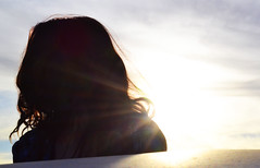 Sunlight (Cynthia Lee Coleclough) Tags: sunset saskatchewan canada sk sask rural sun pretty girl silhouette sidelight backlight