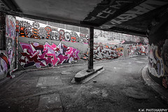 Graffiti'd Up (Kieran J Williams) Tags: angle architecture abstract view viewpoint sky speed shutter shadow saturate silhouette skyline saturation photo photography perspective priority pattern light like life landscape lens lights low lines leadinglines london black blackandwhite white colour color composition comment canon camera contrast cold colors colours