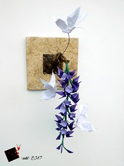 butterfly Effect (-sebl-) Tags: origami sebl butterfly effect flower square triangle mulberry paper nature
