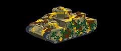 IJA OI Superheavy Tank MOC! (Autumn Awesome 117) Tags: oi tank japan superheavy ija lego moc awesomeautumn117 camouflage gotterdammerungbricks