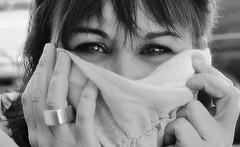 Vivante - Alive (nathaliedunaigre) Tags: portrait femme woman eyes yeux regard monochrome nb noiretblanc blackwhite bw