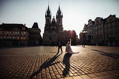 Waltz (ewitsoe) Tags: wedding prague praha czechrepublicbride groom sunrsie dawn sun spring oldmarket cathedral day bigday couple dance shadows canon eos5ds 20mm 14