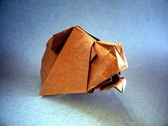 Buste de Balours - Eric Vigier (Rui.Roda) Tags: origami papiroflexia papierfalten urso oso ours bear buste de balours eric vigier