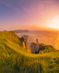 Full Sunlight (ThibaultPoriel) Tags: sunlight sun sunrise sunset landscape people etretat sky colors wide angle olympus france outdoor outdoors beautiful daylight green church arch arche normandie normandy adventure explore exploration silhouette nomad visual mood scenic scenery coast cliff coastline littoral beach rocks rock nature wild natural wilderness autophotographer french