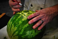 The First Cut Is The Deepest? (BDM17) Tags: cut carve knife melon watermelon chef culinary artist food show nashville tennessee davidson tn convention center