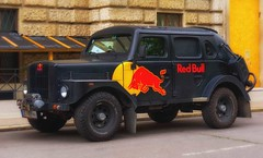 red bull (try...error) Tags: car us uscar street black energy drink red yellow rot gelb truck ford volvo
