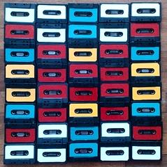 squared music (Kika MiLova) Tags: squared quadrato cassette tapes colorato serie