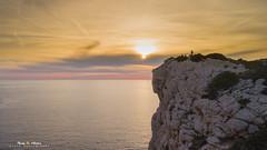 Capo Caccia (nicolamariamietta) Tags: seascape capocaccia rock colors sky sunset cliffs manipulation sea phantom4pro dji alghero sardegna italia it