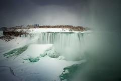 Frozen Niagara in the mist (Notkalvin) Tags: niagarafalls mist frozen ice winter cold water river notkalvin mikekline notkalvinphotography outdoor longexposure niagarariver newyork canada falls waterfall