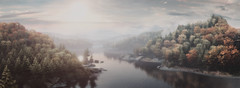 """""""Nature"""" (L1netty) Tags: landscape sky river trees scenery thevanishingofethancarterredux screenshot games panorama gaming reshade pc theastronauts nature outdoor pano 4k color sun clouds autumn videogame"""