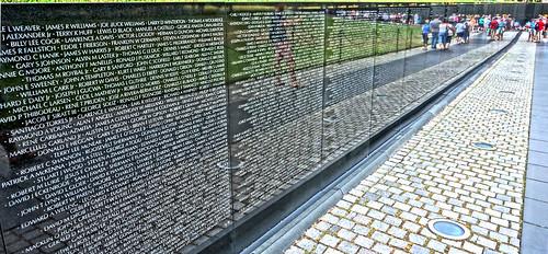 From flickr.com: Vietnam Veterans Memorial wall {MID-139169}