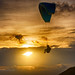 Parasailing at Phuket island. Sunset. Sea.