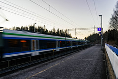 Finland train departure / Finnland Zug Abfahrt