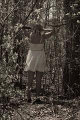 troubled (bitres) Tags: desaturazione saturazione mistero schiena alberi trees foresta ragazza mistery desaturation saturation 55300mm 55mm back girl forest