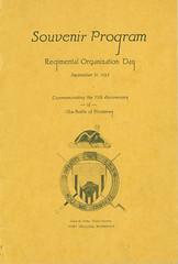1923-09-21-Organization Day program-01 (Old Guard History) Tags: 1923 3dusinfantryregimenttheoldguard fortsnelling minnesota organizationday