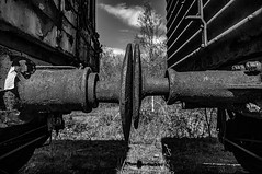 I've Hit The Buffers (Brian Travelling) Tags: poem prose picture words images train buffers buffer outside outdoors outdoor mono blackandwhite monochrome rust mental health mentalhealth pentaxkr pentax pentaxdal