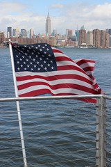 Pride of America (Towner Images) Tags: us usa ny nyc towner america townerimages newyork bigapple city urban manhattan river eastriver building architecture flag starsandstripes cityscape empirestatebuilding