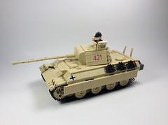 Panther Ausf G1 (mjbricks(flose master)) Tags: lego panther tank brickarms panzer tan ww2