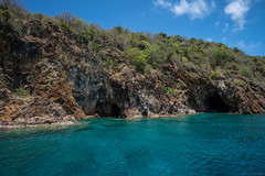 Caves (Fret Spider) Tags: vista water beach tropical sea ocean saltwater anegada bitterend caves mirrorless indigo azure blue landscape outdoor nature bvi britishvirginislands wideangle ultrawideangle vacation relax rejuvenation saturate sun clouds spring island boat sail sonya7rii prime canonef24mmf14liiusm