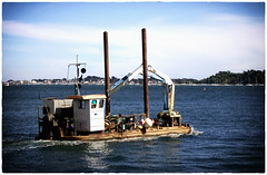 barge in poole harbour (Mark Rigler UK) Tags: boat bare blue sky