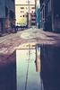 2017 365 arlophotochallenge 137-365 (Arlo Bates) Tags: spring fujifilmx70 exchangedistrict 365photochallenge x70 overcast manitoba fujifilm 2017 2017365photoproject reflection rain backlane canada winnipeg may 2017365arlophotochallenge 365photoproject