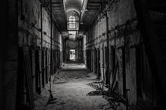 B&W ESP Cell Block-HDR 3-0 F LR 5-18-17 J130-132-133 (sunspotimages) Tags: penitentiary pennsylvania philadelphia prison jail cell block cellblock bw blackandwhite monochrome philadelphiapennyslvania pa jailcellblock