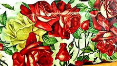 Explored #93 Happy 91st birthday to my Mom (Victorian Candy Box w/ Red + Yellow Roses) (marianne kuzmen- fauvist in former life) Tags: happybirthdaymom roses paper candybox lithography red yellow holiday family mom macro sweet feminine buds leaves petals love blossom june july samsung repeatpattern wadsworthzittle buffalony victoriangiftbox vintagecandybox strength faithandhope amotherslove time flickrexplore629201790 mariannekuzmen art interesting