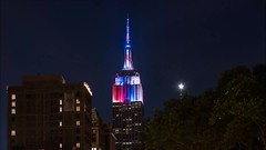 ESB July 4 Time Lapse (Michael.Lee.Pics.NYC) Tags: newyork esb empirestatebuilding july4 independenceday holiday patriotic red white blue led colors video timelapse motion night architecture cityscape flatirondistrict sony a7rm2 zeissloxia50mmf2