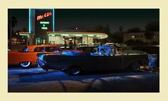 Mr. Ed's Burger (gpholtz) Tags: diorama miniatures 118 diecast 1959 mercury