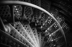 """Spirals"" (Photography by Sharon Farrell) Tags: stairwell stairwells staircases stairs spiralstaircase spiralstaircases lighthousestairs lighthousestaircases blackandwhite noiretblanc blackwhite abstract abstractinblackandwhite barnegatlight barnegatlighthouse longbeachisland lighthouse barnegatlighthousestatepark barnegatlightnewjersey islandbeach usnationalregisterofhistoricplaces historiclighthouse oldbarney nationalregisterofhistoricplaces"