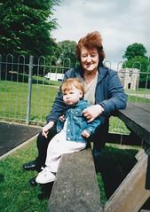 Emily and Mum at the Abbey Gardens  2002 (Bury Gardener) Tags: girl emily family friends relatives park abbeygardens burystedmunds suffolk england eastanglia uk 2002