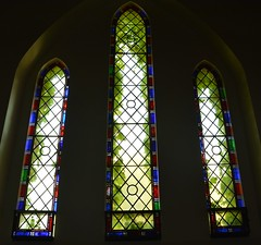 Stained glass windows, Mount Macedon Uniting Church originally Presbyterian (contemplari1940) Tags: mount macedon uniting church presbyterian ashwednesday bushfires rebuilt stained glass windows