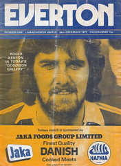 Everton vs Manchester United - 1977 - Cover Page (The Sky Strikers) Tags: everton manchester united football league divsion one goodison park programme 15p