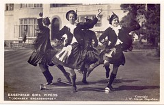 The Dagenham Girl Pipers at Sandringham, 1936. (Paris-Roubaix) Tags: sandringham the dagenham girl pipers sword dance lochaber broadswords antique postcards scotland vintage scottish