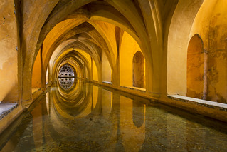 The Baths of Lady Mary of Padilla in the Real Alcazar, Sevilla