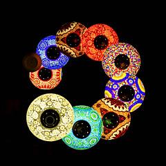 Hanging arabic glass lamps (Dev WR) Tags: qatar doha souq souk souqwaqif arabic lamp lantern colour rainbow canon 60d circle spiral round