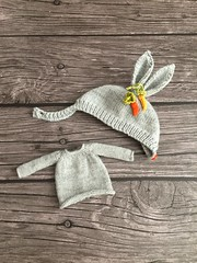Bunny Carrot 🐰🐰hat n sweater set .. list in my etsy store now ..