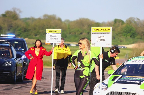 Martin Depper's empty grid spot at the Thruxton BTCC round, May 2017