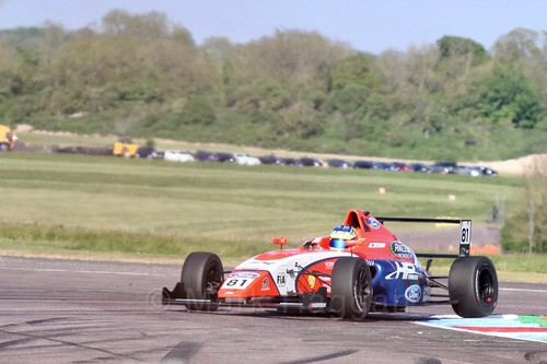 Oscar Piastri in British Formula Four at Thruxton, May 2017