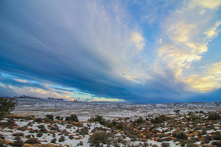 Wide open Plains in Arches National Park