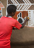 Young man painting the wall of a traditional ethiopian house, Kembata, Alaba Kuito, Ethiopia (Eric Lafforgue) Tags: abyssinia adolescent africa african alaba architecture art artist building color culture day decorated decoration depiction eastafrica ethiopia ethiopian ethnic geometric home hornofafrica house housing hut illustration kulito mural naive oneperson outdoors painted painter painting people poverty skill teenager toukoul tukul vertical village work working youngadult ethio163434 alabakuito kembata