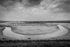 m E a N d e R (NVOXVII) Tags: river tideout landscape stream meandering tributary lymington hampshire nature horseshoe shape bnw blackandwhite clouds dramatic moody canon m10 mirrorless water