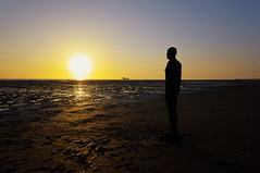 Another Place (lewist584) Tags: sony sonynex5r nex nex5r emount sigma19mmf28dn lewist584 crosby beach anthonygormley anotherplace liverpool northwest statues sunset