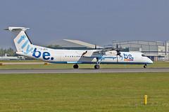 G-JECH DHC-8Q 402 Flybe MAN 11-05-17 (PlanecrazyUK) Tags: egcc manchester man ringway manchesterairport gjech dhc8q402 flybe 110517