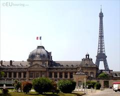 Ecole Militaire and the Eiffel Tower (eutouring) Tags: paris france travel eiffeltower eiffel tower ecolemilitaire school building