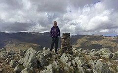 19 of 52 trig points (Ron Layters) Tags: 2017 ronlayters selfportrait 52trigpoints highraise trigpoint stone fells scafell greatgable vista mountains hills mixedweather windy summit views landscape pillar tp3803 fbs5989 lakedistrict lakedistrictnationalpark langdale chapelstile greatangdale cumbria england unitedkingdom 52weeks 52 phonecamera iphone apple appleiphone6 selftimer tripod 10secondtimer weeknineteen week19 19 highestpositioninexplore77onmondaymay152017 explore interesting 5k 10k