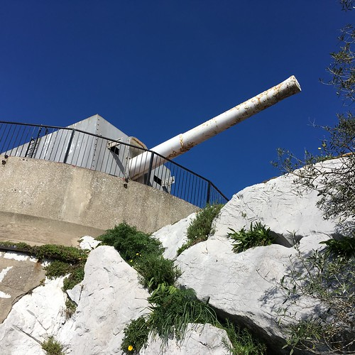 British Coastal Defense Gun, Gibraltar.