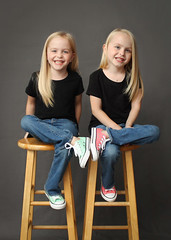 IMG_8407 (theiss.heather) Tags: twin twins girls portraits photo session 6 years studio simple stool converse