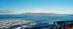 View of Lanai, from Lahaina, Maui, Hawaii (trphotoguy) Tags: lahaina maui hawaii mamiya645pro film ektar100 kodakektar100 mediumformat 645format 6x45 120film lanai