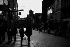 Walk On By.... (John fae Fife) Tags: fujifilmx noiretblanc xe2 street bw nb candid streephotography argylestreet couple hands blackandwhite scotland monochrome holding glasgow